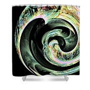 Abstract 291 Shower Curtain