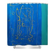 Abstract 2a Shower Curtain