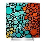 Mosaic Art - Abstract 3 - By Sharon Cummings Shower Curtain