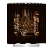 Abstract 326 Shower Curtain