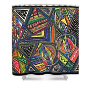 Abstract 33 Shower Curtain