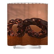 Abstract 331 A 3d Copper Sculpture Shower Curtain