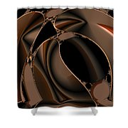 Abstract 339 Shower Curtain