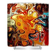 Abstract 351-07-13 Marucii Shower Curtain by Marek Lutek