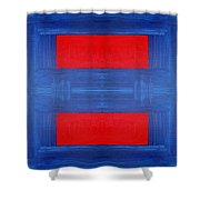 Abstract 477 Shower Curtain