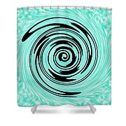 Abstract #5 Shower Curtain