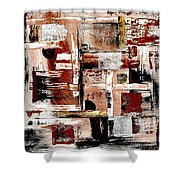Abstract 524-11-13 Marucii Shower Curtain