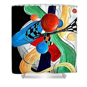 Abstract 525-11-13 Marucii Shower Curtain