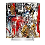 Abstract 526-11-13 Marucii Shower Curtain