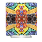 Abstract 55 Shower Curtain