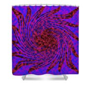 Abstract #6 Shower Curtain