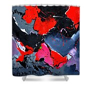 Abstract 673121 Shower Curtain