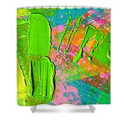 Abstract 6814 Diptych Cropped Xvi  Shower Curtain