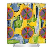 Abstract 82 Shower Curtain