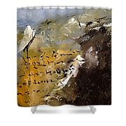 Abstract 96688 Shower Curtain