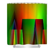 Abstract A018 Shower Curtain