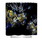 Abstract A07 Shower Curtain