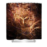 Abstract Angels Burning Sepia Shower Curtain