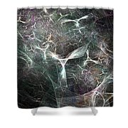 Abstract Angels White Portrait Shower Curtain