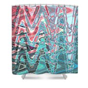 Abstract Approach Iv Shower Curtain