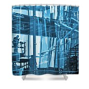 Abstract Architecture Shower Curtain