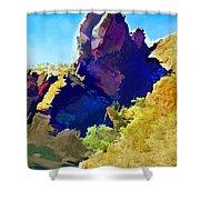 Abstract Arizona Mountain Peak In Autumn Shower Curtain