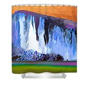 Abstract Arizona Mountains At Icy Dawn Shower Curtain