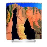 Abstract Arizona Mountains At Sunset Shower Curtain