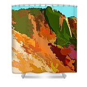 Abstract Arizona Mountains In The Afternoon  Shower Curtain