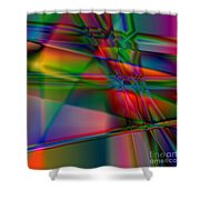 Lineage - Square Abstract Print Shower Curtain
