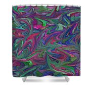 Juncture - Abstract Art Shower Curtain