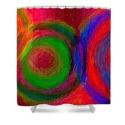 Separate Yet Together - Abstract Art  Shower Curtain