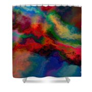 Intrigued - Abstract Art  Shower Curtain