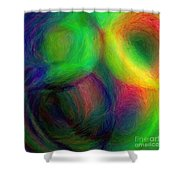 Journey - Square Abstract Art  Shower Curtain