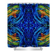Abstract Art - Center Point - By Sharon Cummings Shower Curtain