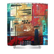 Abstract Art - Color Rush - Original Painting Madart Shower Curtain