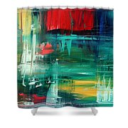 Abstract Art Colorful Original Painting Bold And Beautiful By Madart Shower Curtain