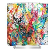 Abstract Art Focused Inward Towards The Divine 4 Shower Curtain