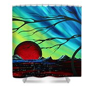 Abstract Art Landscape Seascape Bold Colorful Artwork Serenity By Madart Shower Curtain