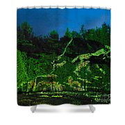 Abstract Art Nature Scenery Shower Curtain