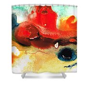Abstract Art - No Limits - By Sharon Cummings Shower Curtain
