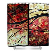 Abstract Art Original Landscape Painting Bring Me Home By Madart Shower Curtain by Megan Duncanson