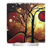 Abstract Art Original Landscape Painting Catch The Rising Sun By Madart Shower Curtain