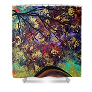 Abstract Art Original Landscape Painting Go Forth IIi By Madart Studios Shower Curtain