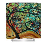 Abstract Art Original Landscape Wild Abandon By Madart Shower Curtain