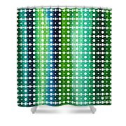 Abstract Art Original Textured Soothing Painting Sea Of Whimsy Stripes II By Madart Shower Curtain