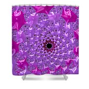 Abstract Art Radiant Orchid Pink Purple Violet Shower Curtain
