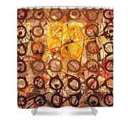 Abstract Art Sixty-six Shower Curtain