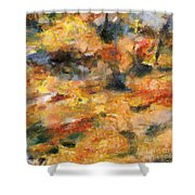 Abstract Autumn 1 Shower Curtain