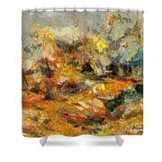 Abstract Autumn 2 Shower Curtain